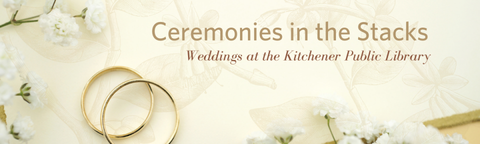 Ceremonies in the Stacks - Weddings at Kitchener Public Library